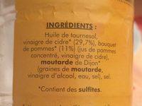 Vinaigrette de cidre - Ingrédients - fr
