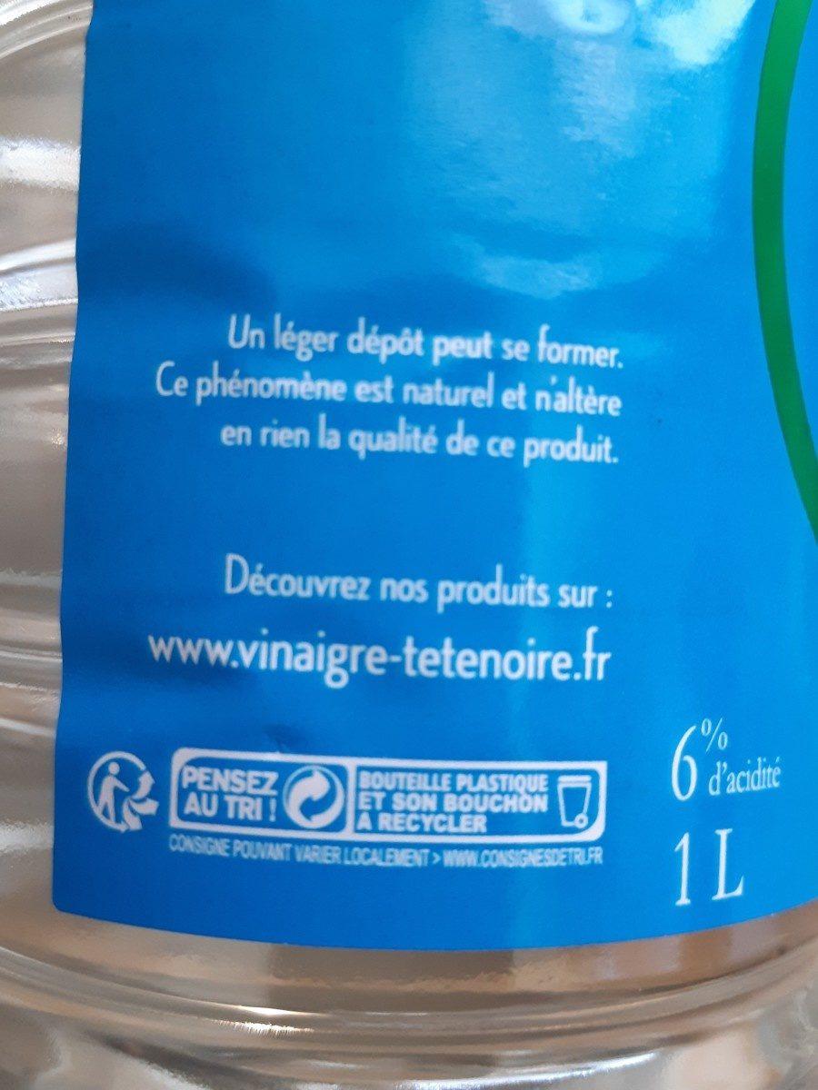 Vinaigre d'alcool - Ingrediënten - fr