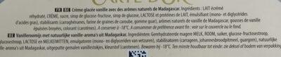 Carte D'or Vanille - Ingredients