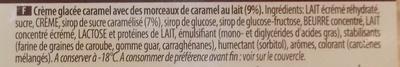 Crème glacée Caramel - Ingrediënten - fr