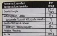 Menthe aux éclats de chocolat noir - Nutrition facts - fr