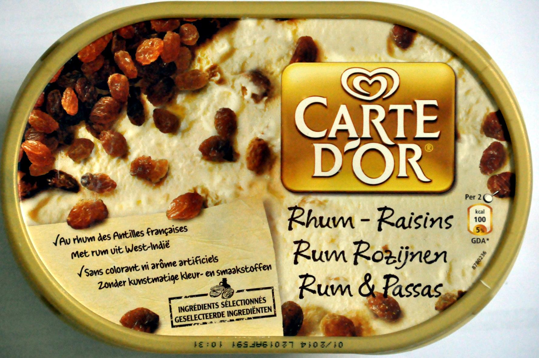Glace rhum-raisins - Produit - fr