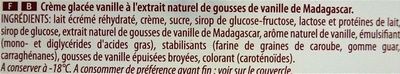 Glace vanille - Ingredients