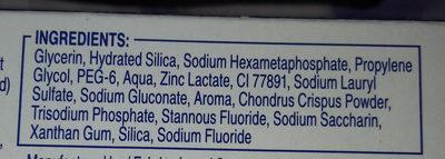 Oral-B pro-expert - Ingrédients