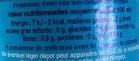 Anise sans alcool CAZANOVA - Informations nutritionnelles - fr