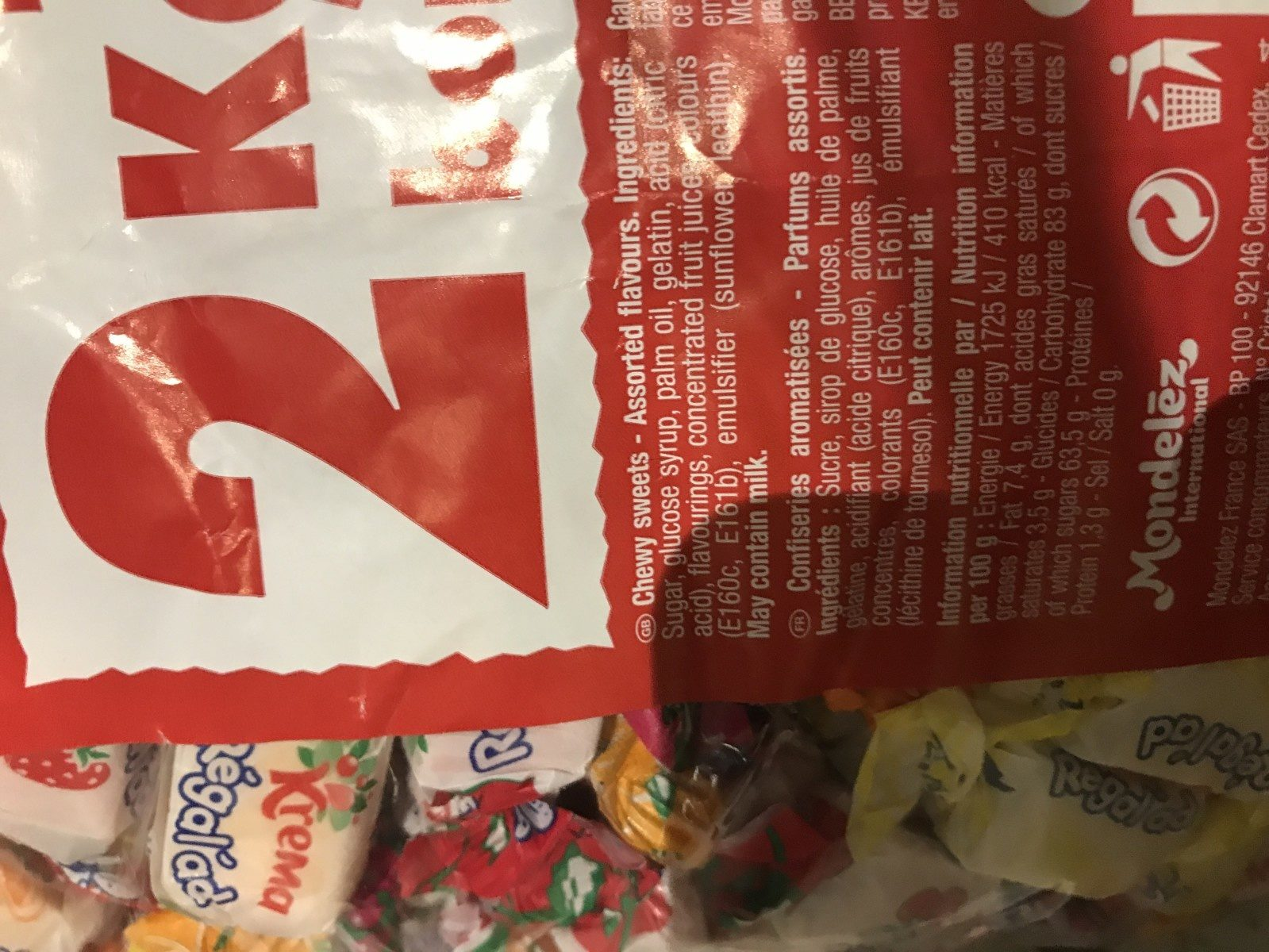 2KG Regal'ad Vrac - Ingredients - fr