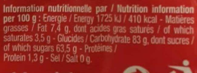 2KG Regal'ad Vrac - Nutrition facts - fr