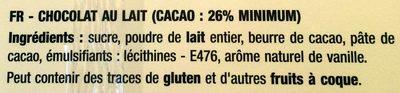Calendrier de l'Avent - Ingrédients - fr