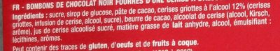 Cerises Liqueur Chocolat Noir - Ingredienti - fr