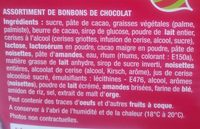 assortiment bonbons de chocolat - Ingrédients