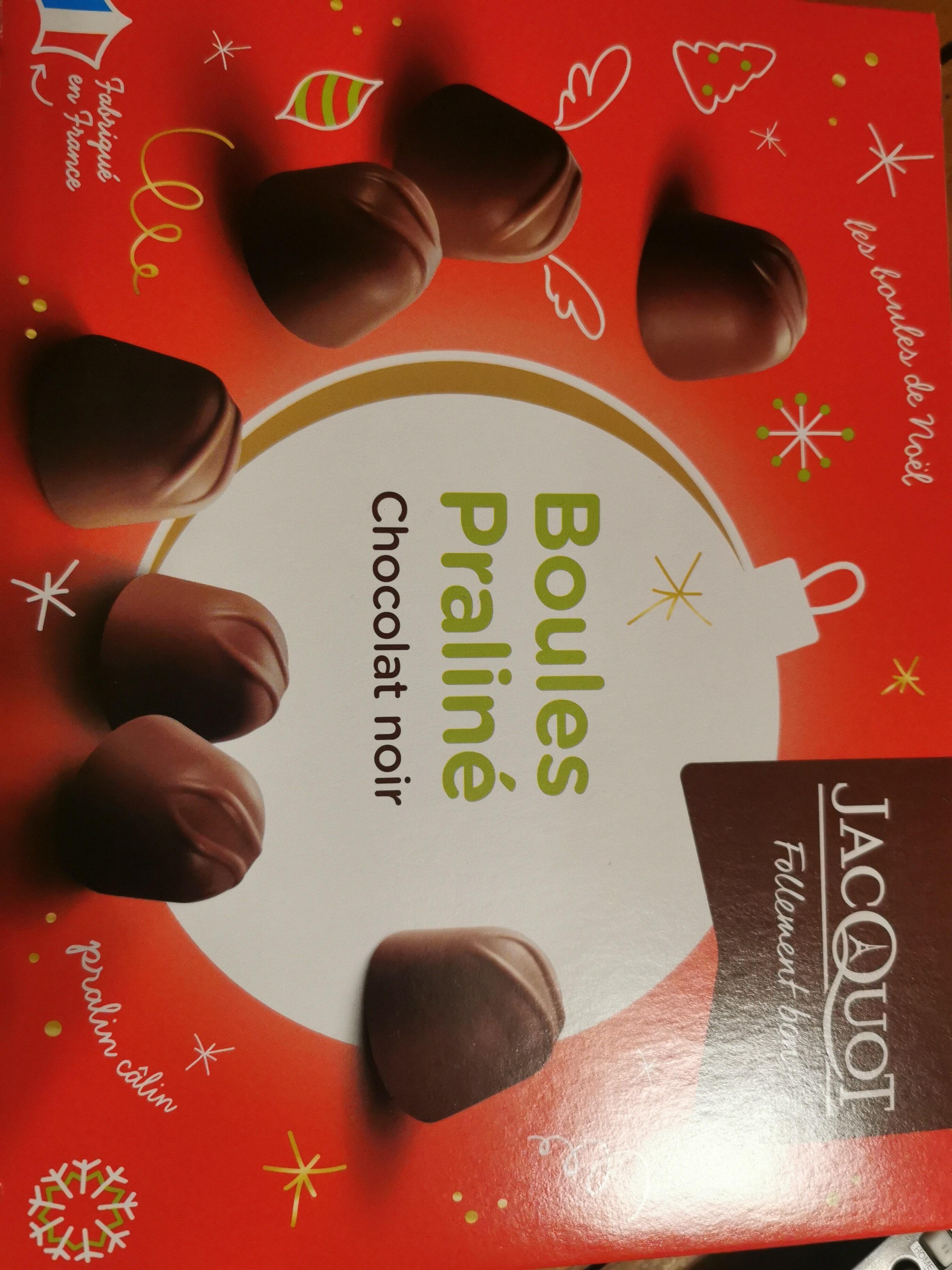 Chocolat noir boules praliné - Produit - fr