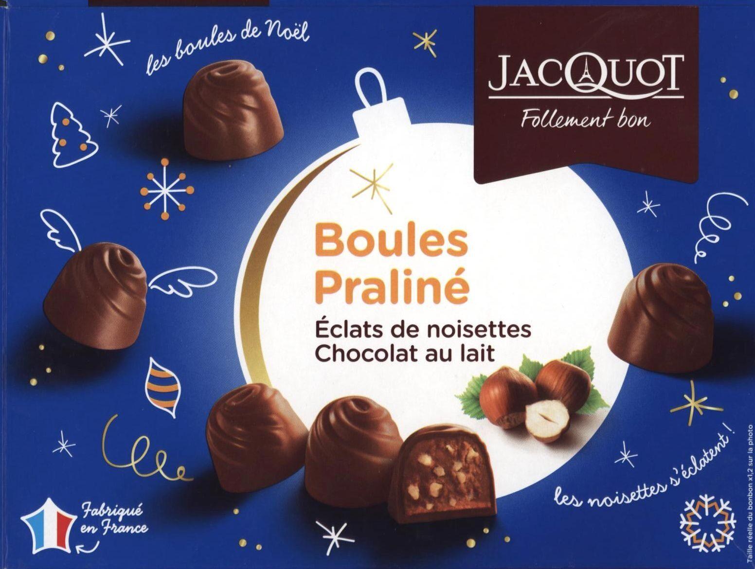 Boules Praliné Éclats de noisettes Chocolat au lait - Product