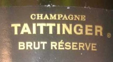 75CL Champagne Brut Reserve Taittinger - Ingredients