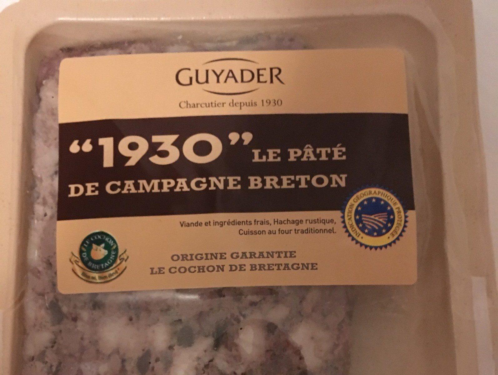 «1930» le pâté de campagne breton - Produit - fr
