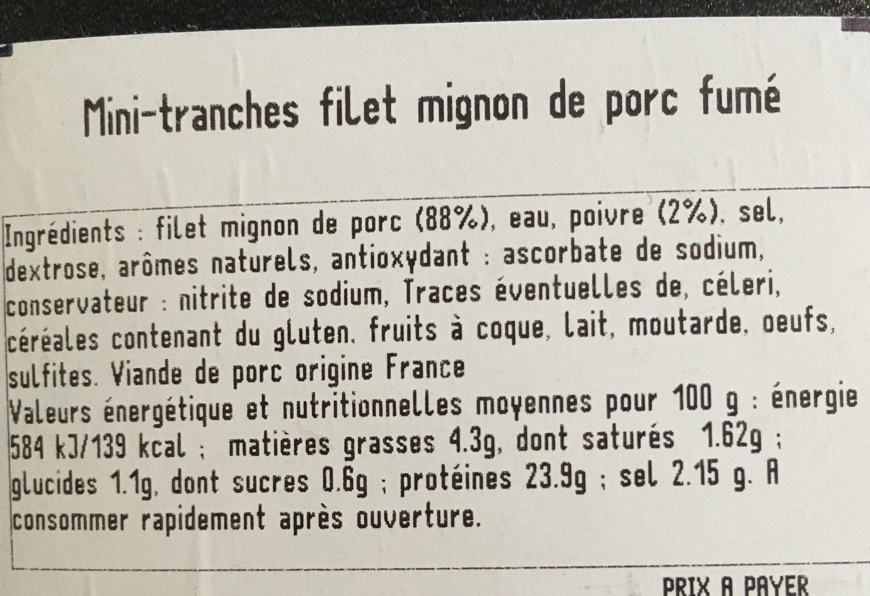 Filet mignon au poivre - Ingrediënten - fr