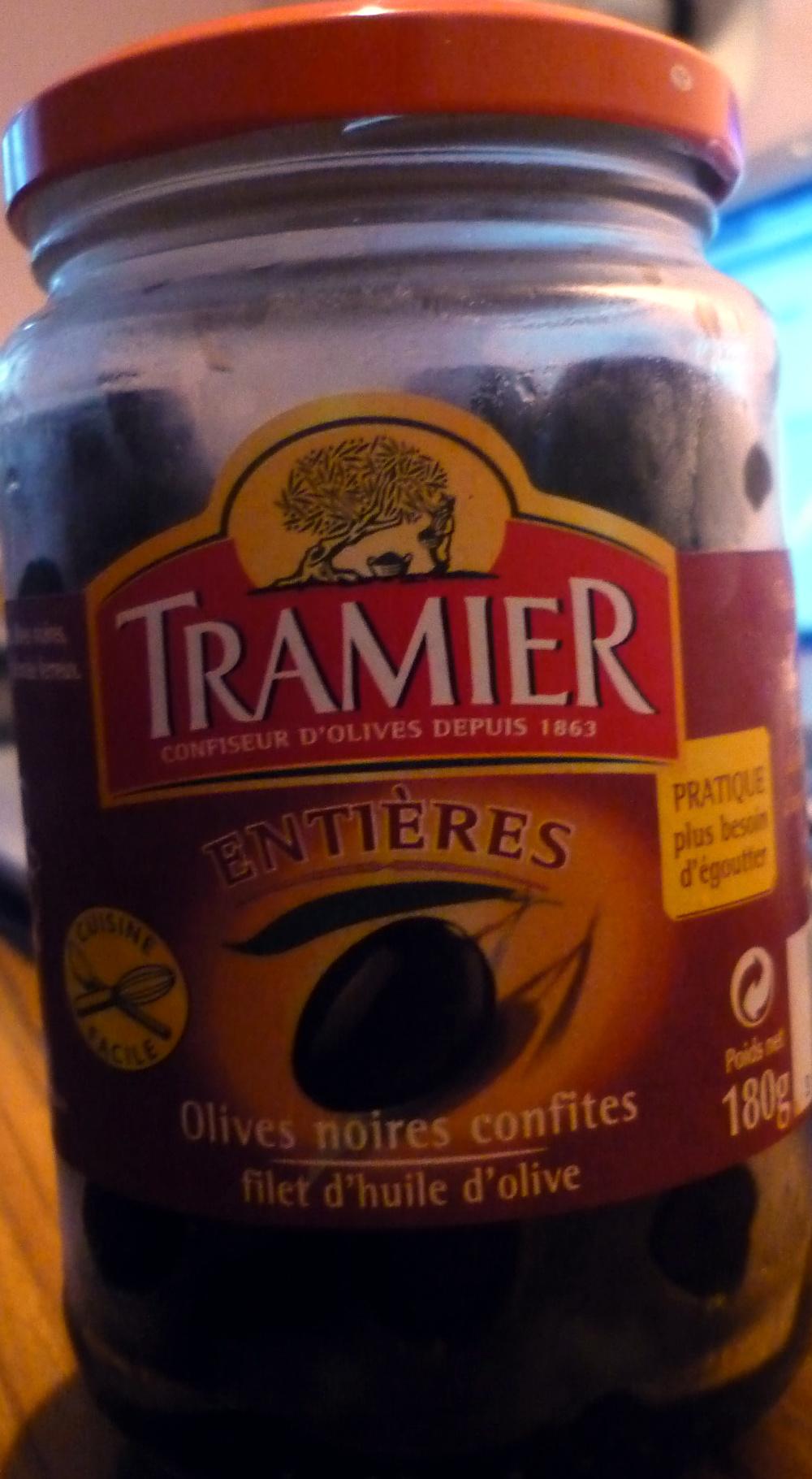 Olives noires entières confites - Produit - fr