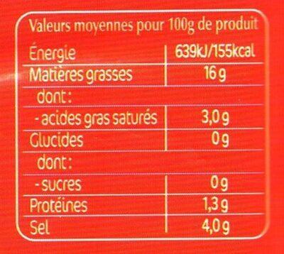Olives apero - Voedingswaarden - fr
