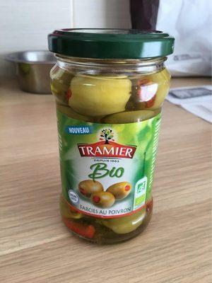 Olives vertes farcies au poivron rouge - Produit - fr