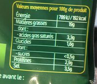 Olives apéro Cocktail Lupins - Nutrition facts - fr