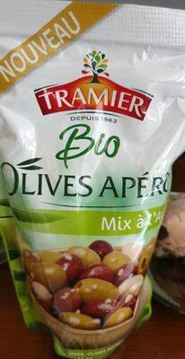 Olives apéro Mix à l'ail Bio 150g Tramier - Produkt - fr