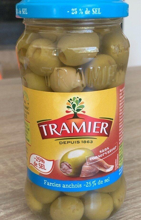 Olives farcies aux anchois -25% de sel - Produit - fr