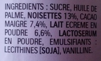 Nutella - Ingredients