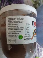 Nutella pate a tartiner noisettes-cacao t.220 pot de - Ingredients - fr