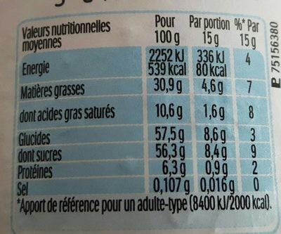 Nutella t.220 pot de - Informations nutritionnelles - fr
