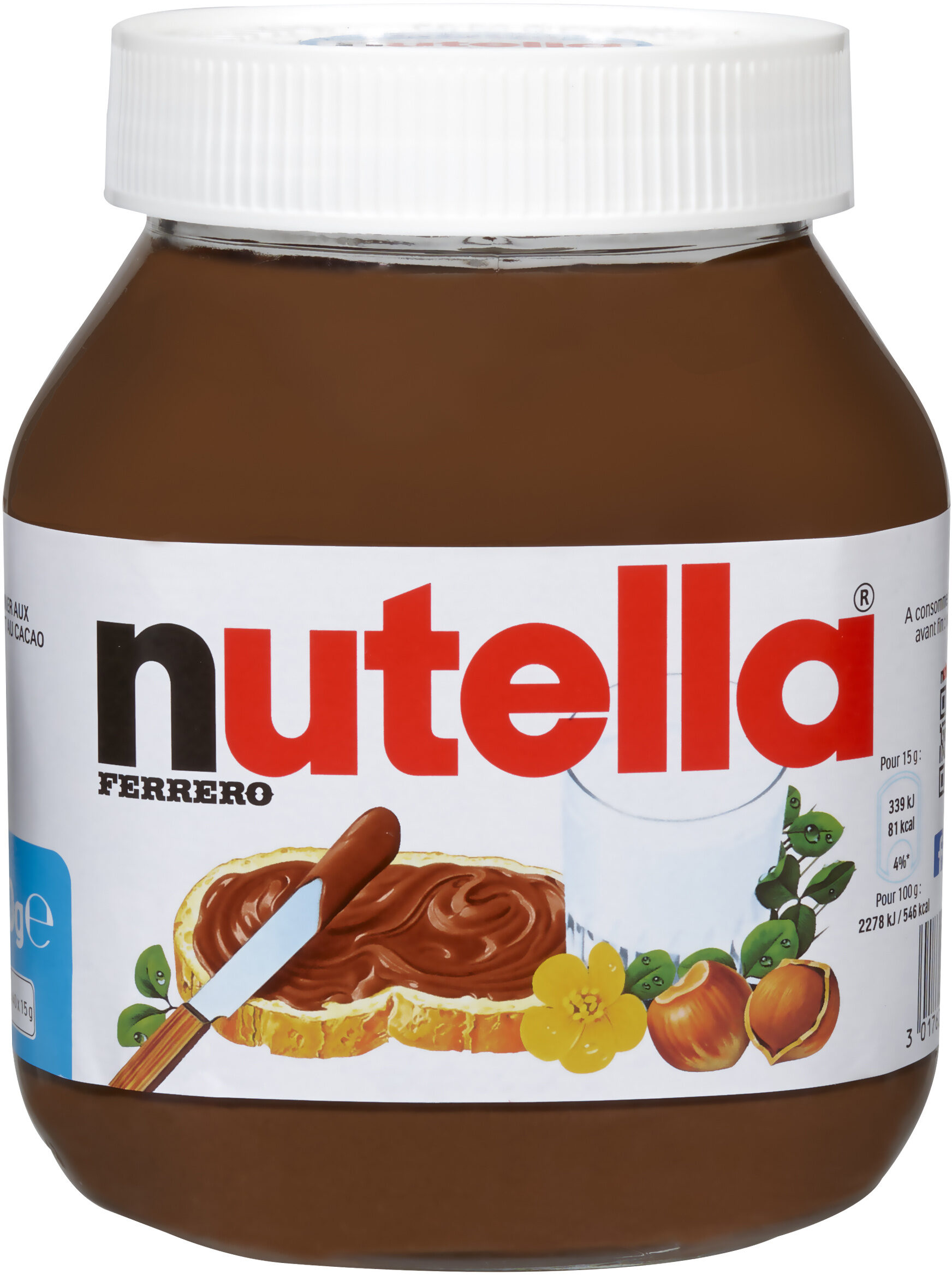 Nutella pate a tartiner noisettes-cacao t.600 pot de - Product - fr