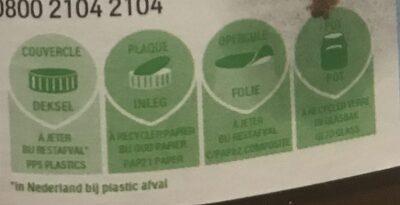 Nutella Ferrero - Instruction de recyclage et/ou information d'emballage - fr
