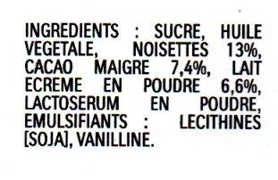 Nutella - Ingrédients - fr