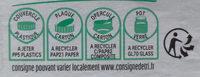 Nutella pate a tartiner noisettes-cacao t.1000 pot de 1 kg - Istruzioni per il riciclaggio e/o informazioni sull'imballaggio - fr