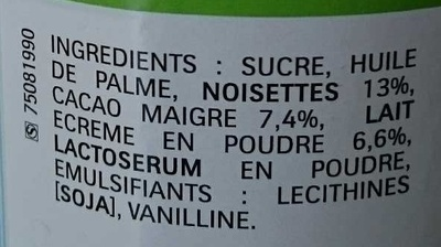 Nutella - Ingrediënten - fr