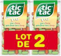Bonbons tic tac goûts orange-citron vert - Produit - fr