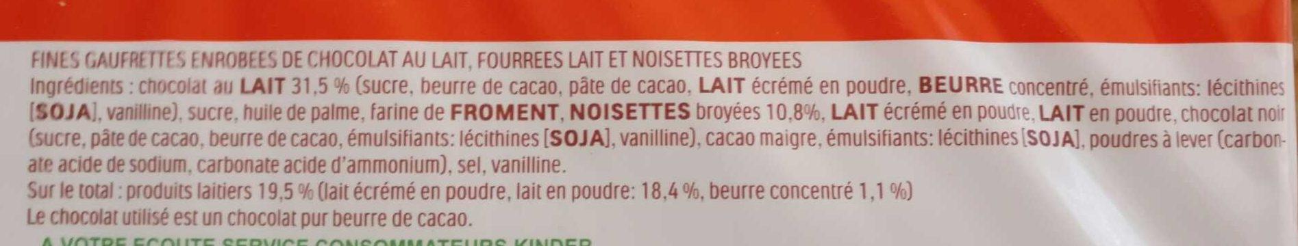 Kinder Bueno - Ingrediënten