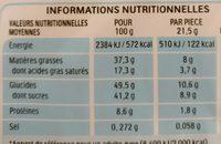 Kinder Bueno - Voedingswaarden
