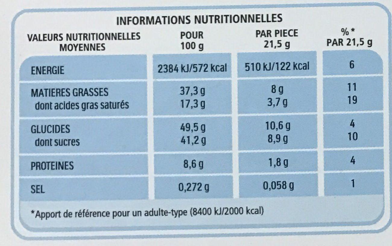 Bueno - Valori nutrizionali - fr