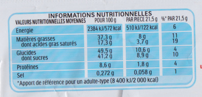 Kinder Bueno - Voedingswaarden - fr