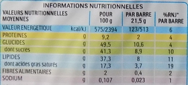 Kinder Bueno - Nutrition facts