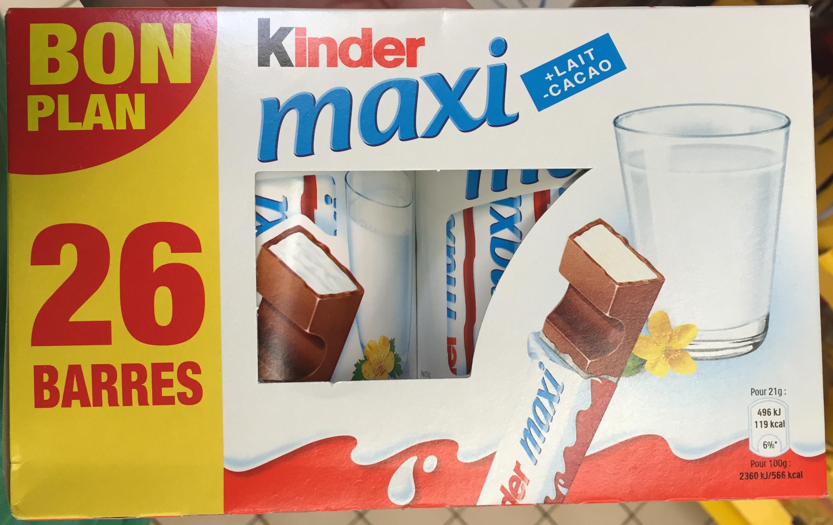 kinder maxi kalorier