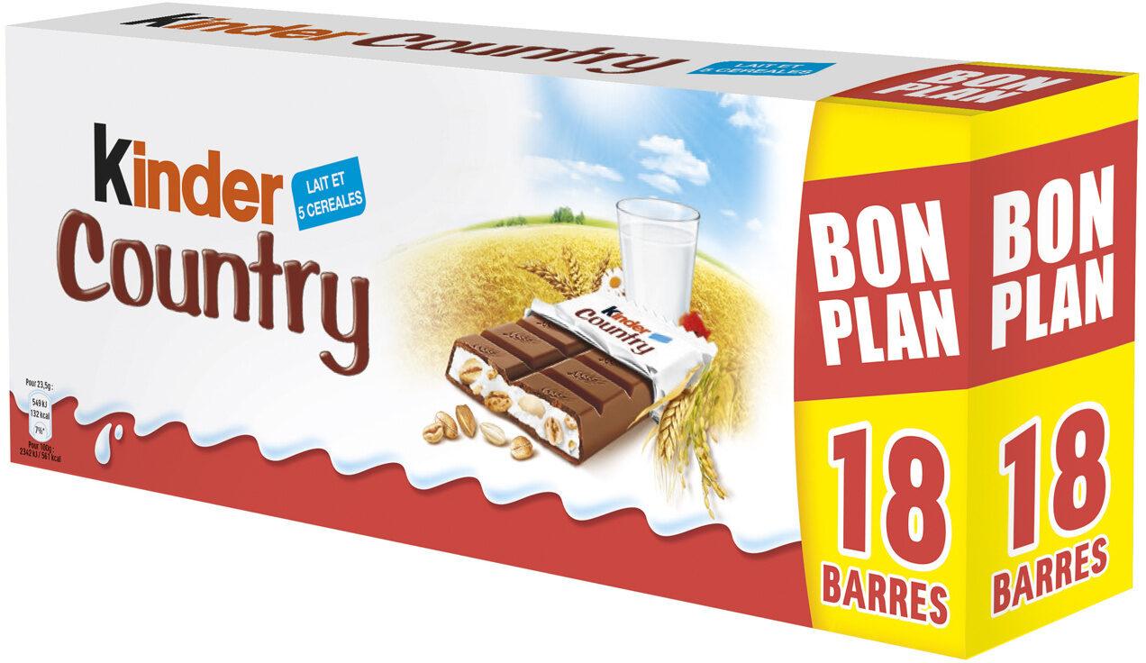 KINDER COUNTRY BARRE DE CEREALES ENROBEE DE CHOCOLAT 2x9 BARRES - Produit - fr