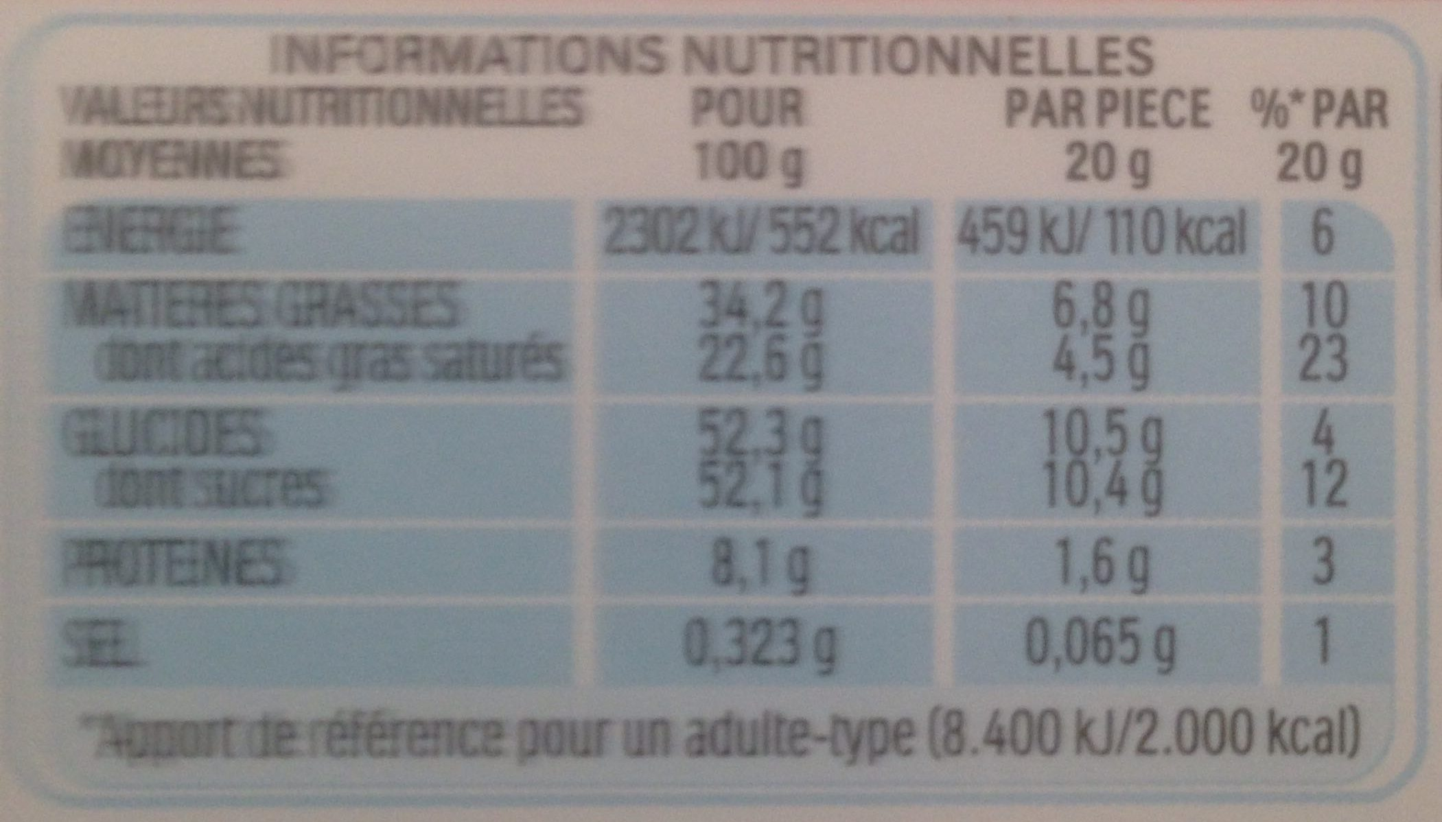 Kinder Surprise - Informations nutritionnelles - fr