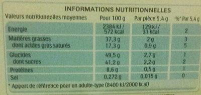Kinder bueno mini fines gaufrettes enrobees de chocolat au lait fourrees lait et noisettes box plastique de 180 pieces - Voedingswaarden - fr