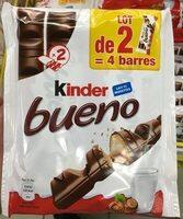 Kinder bueno gaufrettes enrobees de chocolat 2 x2 barres - Product - fr