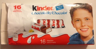 16 batonnets Chocolat - Produit