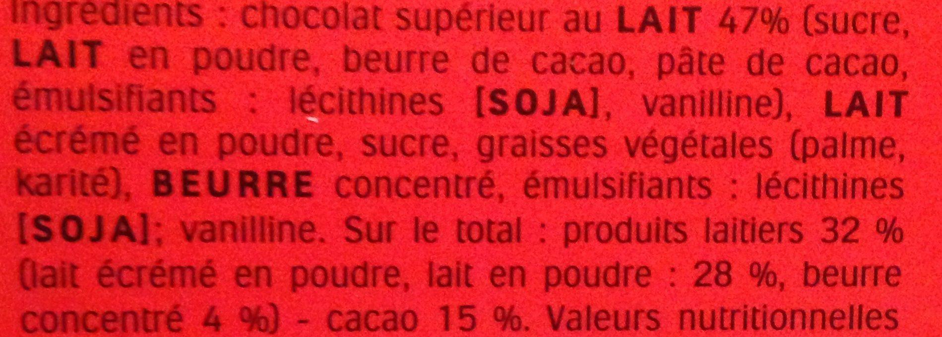 Calendrier de l'Avent Kinder - Ingredients - fr
