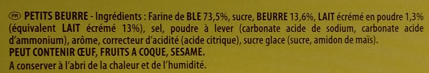Veritable petit beurre - Ingrediënten