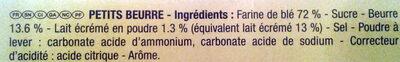 Veritable petit beurre - Ingrediënten - fr