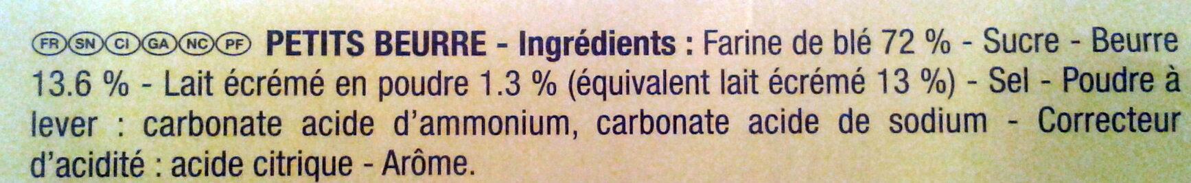 Veritable petit beurre - Ingrédients - fr