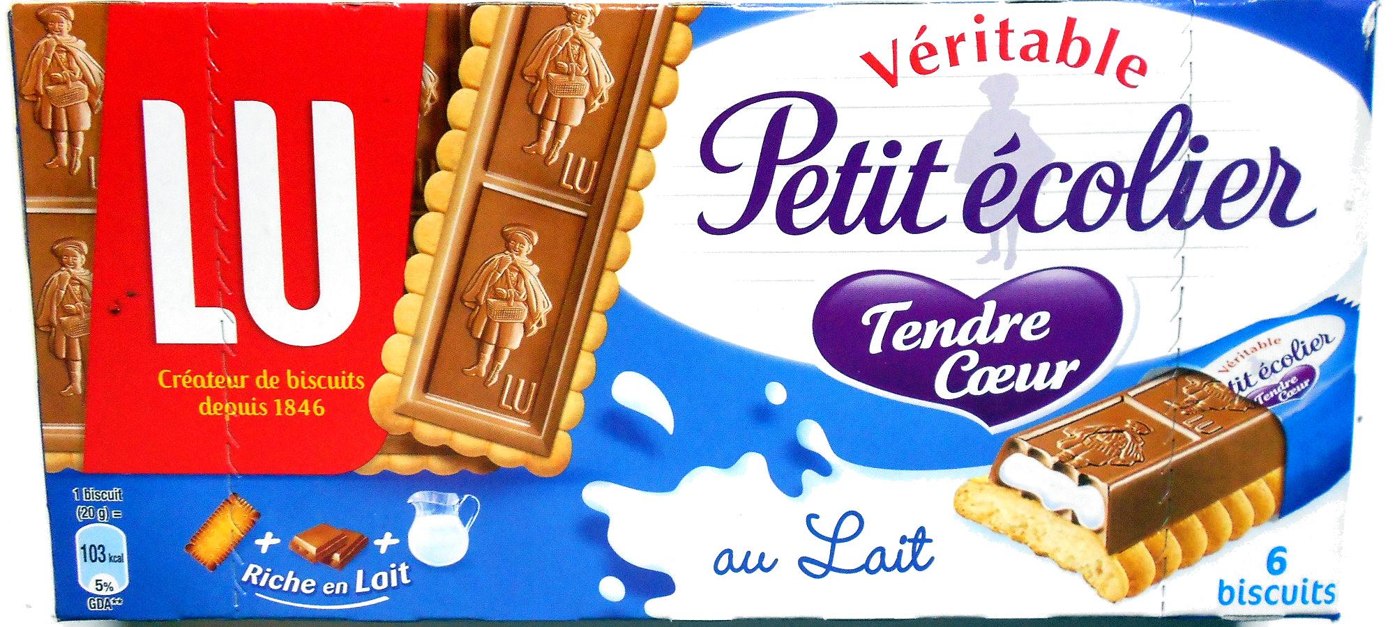 Véritable petit écolier tendre coeur, 6 biscuits -
